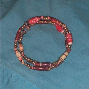 Handmade newspaper clippings bracelet